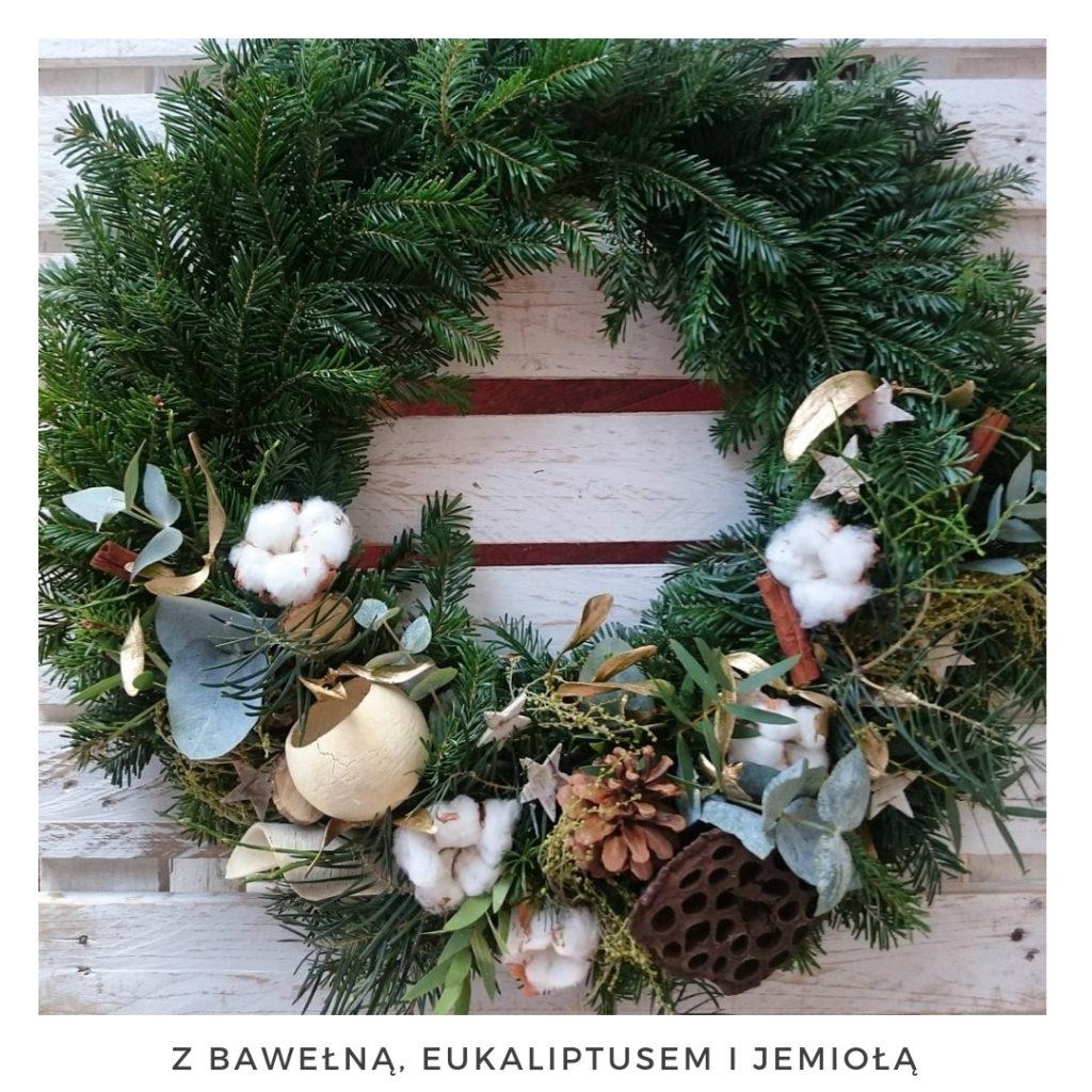 Świąteczny wianek narodzenie święta ozdoby zimowy dekoracje boże narodzenie świąteczne Pakamera święta bożego wianki świąteczne wianki na drzwi stroik jodła świerk szyszki choina świeży żywy naturalny