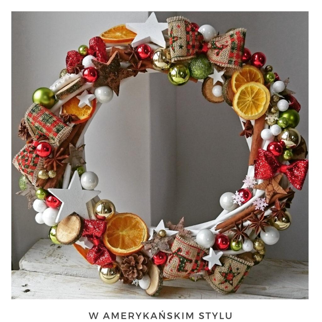 Świąteczny wianek narodzenie święta ozdoby zimowy dekoracje boże narodzenie świąteczne Pakamera święta bożego wianki świąteczne wianki na drzwi stroik czerowny zielony suszone pomarańcze amerykański