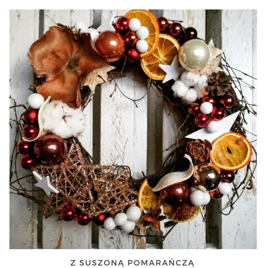 Świąteczny wianek narodzenie święta ozdoby zimowy dekoracje boże narodzenie świąteczne Pakamera święta bożego wianki świąteczne wianki na drzwi stroik czerwony suszona pomarańcza złoto bawełna